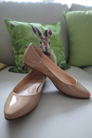 Cole Haan Patent Leather Ballerinas nude leather