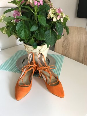 Boden Strappy Ballerinas orange