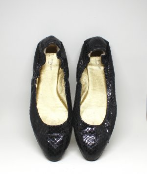 Ballerinas von Dolce & Gabana Leder Pythonleder Optik schwarz