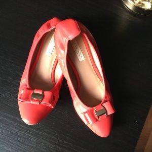 Drievholt Bailarinas plegables rojo claro