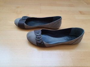 edc by Esprit Strappy Ballerinas grey brown-light brown