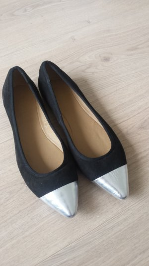 Esprit Ballerinas with Toecap black-silver-colored suede