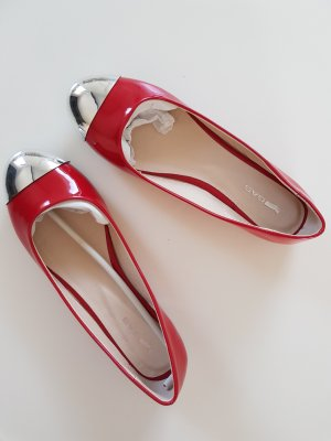Gas Patent Leather Ballerinas red