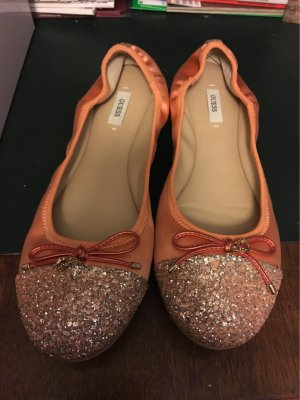 Guess Ballerines Mary Jane abricot-saumon soie