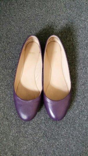 Ballerinas von Hugo Boss 37 lila Leder