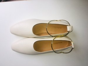 Jil Sander Strappy Ballerinas natural white
