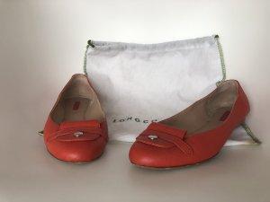 Longchamp Bailarinas con tacón Mary Jane salmón