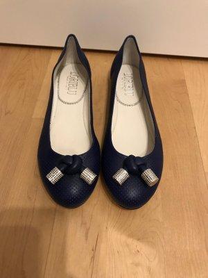 Ballerines pliables bleu foncé cuir