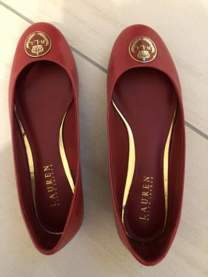 Ralph Lauren Ballerines Mary Jane rouge