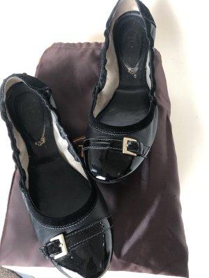 Tod's Ballerines en cuir verni noir