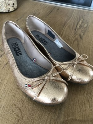 Tommy Hilfiger Patent Leather Ballerinas gold-colored
