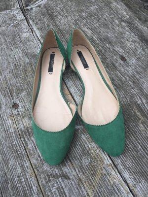 Ballerinas von Zara grün
