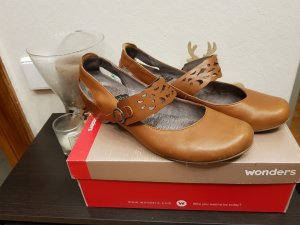 wonders Ballerinas grey brown-light brown