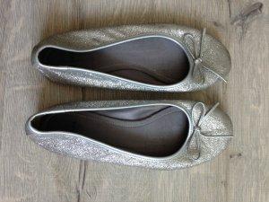 Ballerinas - Zara - Silber - Größe 38 - kaum getragen