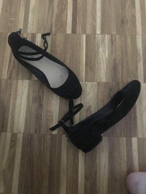 New Look Bailarinas con tacón Mary Jane negro