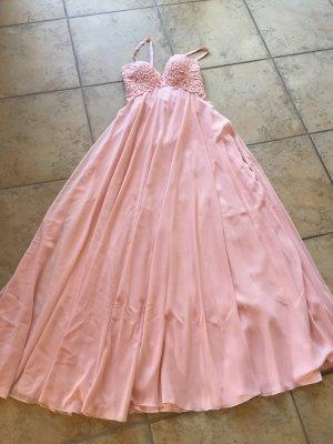Robe de bal vieux rose-rosé