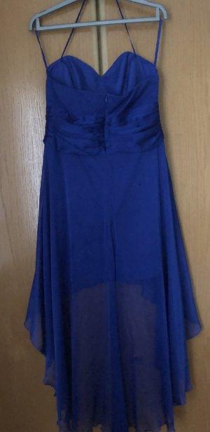 100% Fashion Robe de bal bleu soie