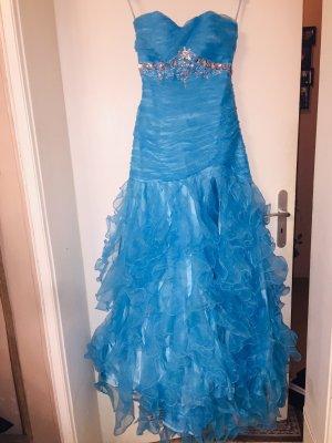 Vestido de baile azul aciano-azul celeste