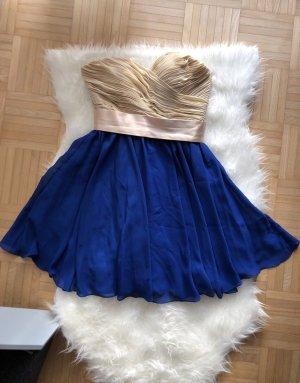 Robe de bal bleu foncé-crème