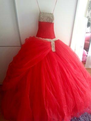 Vestido de baile rojo