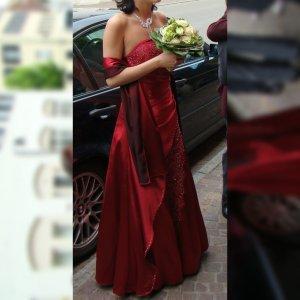 Ballkleid Abendkleid Hochzeitskleid Standesamt rot Glitzer