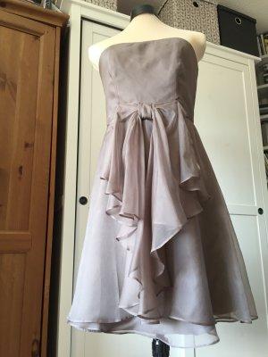 Ballkleid, Abendkleid, reine Seide, taupe, von Jake's, 38 M S, NP 140,-, neu
