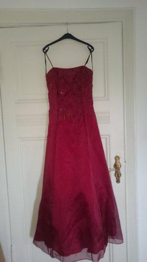 Vestido de baile carmín-rojo oscuro