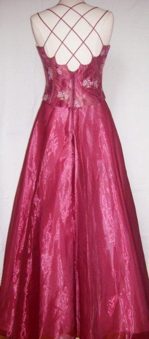 Ballkleid aus den U.S.A. mit tollem Rückenausschnitt Gr. M (ca. 38/40) Abiball weinrot rosa