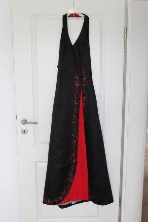 Ballkleid aus Irland, schwarz/rot mit Stickerei, Morgan & Co.