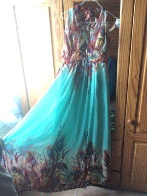 Robe de bal multicolore