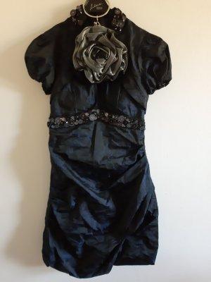 Rinascimento Robe de bal noir-bleu