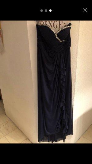 Mascara Vestido de baile azul oscuro