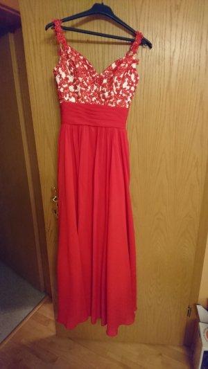 Ballkleid Hochzeitskleid Abendkleid rot xs