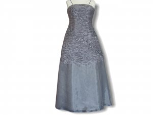 Ball Dress grey mixture fibre