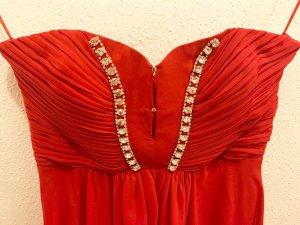 Ballkleid in Rot, Schulterfrei (inkl. abnehmbare Träger) mit Sternchen