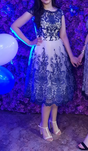 Chi Chi London Ball Dress natural white-dark blue