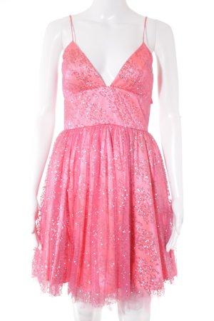 Abito da ballo rosa-argento elegante