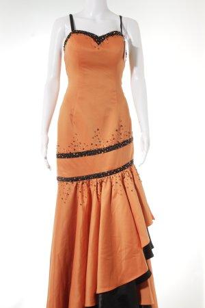 Abito da ballo nero-arancione stile stravagante