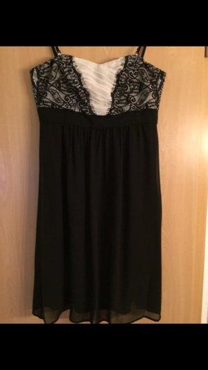 Esprit Vestido de baile blanco-negro