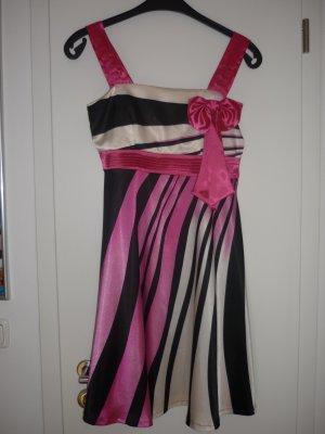 Ballkleid schwarz/ weiß/ pink