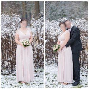 Adrianna Papell Abito da ballo rosa pallido