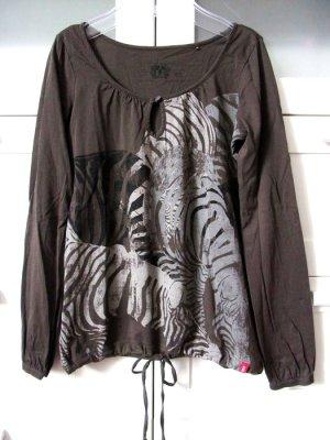 Ballon Shirt Langarm Gummizugarm Bindband Animal Wild Print Gr. XS