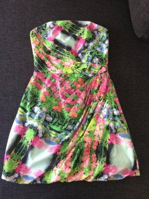 Zara vestido de globo multicolor