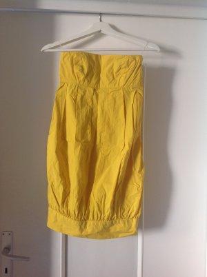 Zara vestido de globo amarillo oscuro