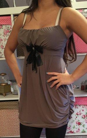 ballonkleid Abendkleid Mini braun