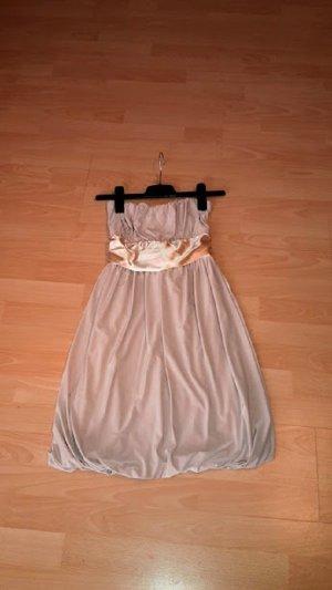 vestido de globo beige