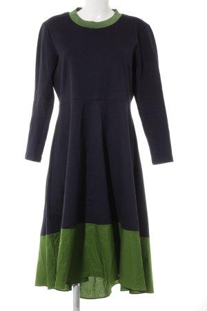 Ballonkleid dunkelblau-waldgrün Casual-Look