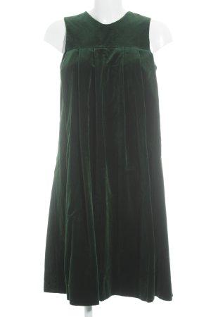 vestido de globo verde oscuro apariencia de terciopelo