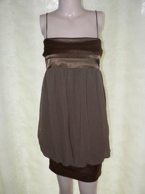 Zara Robe ballon brun polyester
