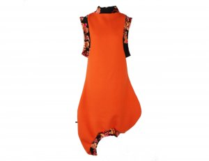 Ballonkleid Orange Wolle Gr. 38 #123